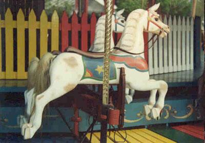 """alt=""""American Beauty Herschell Spillman Kiddie Carousel"""""""